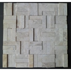 MOSAICO RELEVO TRAVERTINO 31,5X31,5 - 4040R